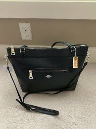 coach tyler pebble leather tote black