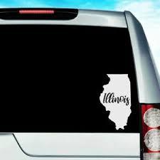 Illinois Home State Decal For Car Truck Window Phone Laptop Chief Illiniwek Ebay