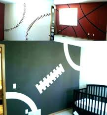 Sports Room Decorating Ideas Baby Bedroom Baseball Decor Kids Game Bedro Muconnect Co