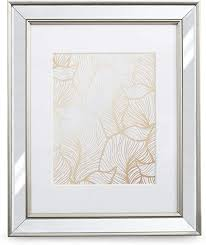 11x14 mirrored picture frame matted