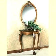 foyer table round wall mirror