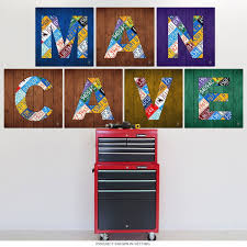 Letter N License Plate Art Wall Decal At Retro Planet