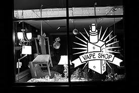 Amazon Com Wall Vinyl Sticker Decal Vaporizer Vape Pen Store Shop Smoke E Cigarettes Liquid Coil Indoor Outdoor Sign Logo Sa755 Home Kitchen