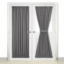 glass door curtain panel
