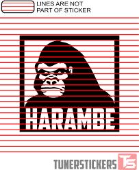 Harambe Square Tuner Stickers