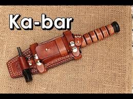 making a ka bar leather sheath knife