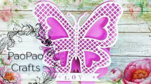 Tarjeta Mariposa Troquelada Tarjetas 3d Moldes Gratis How To