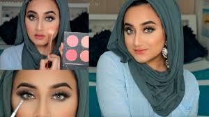 wet eye makeup hijab tutorial beauty