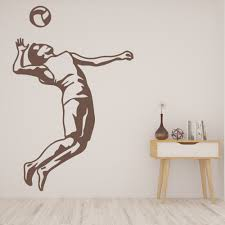 Volleyball Player Beach Volleyball Wall Decal Sticker Ws 32954 Ebay