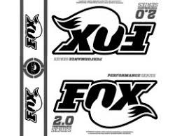 Fox 2 0 Performance Series Shock Black Logo Stickers With Clear Background 6 7 8 X 6 7 8 Kartek Off Road
