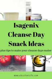 isagenix cleanse day directions tips