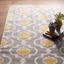 melrose geometric gray yellow area rug