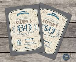 30 40 50 60 70 80 Cumpleanos Retro Invitacion Para Hombres