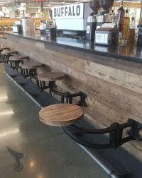 alder swing out bar stool seating