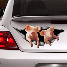 Amazon Com Funny Pigs Car Decal Pigs Sticker Farm Decal Vinyl Sticker For Cars Windows Walls Fridge Toilet And More 15 Inch Home Kitchen