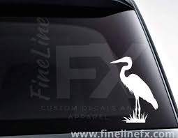 Great Blue Heron Wading Bird Vinyl Decal Car Sticker