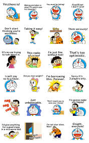 line official stickers doraemon moving quotes