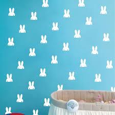 Pet Bunny Ears Wall Sticker Cute Rabbit Vinyl Decal Sticker White Bunnies Wall Art For Nusery Room Decoration Wall Sticker Stickers Whitedecal Sticker Aliexpress