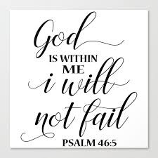 christian bible quote god is in me i will not fail canvas