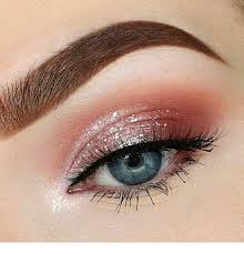 pink eye makeup and glitter milas net