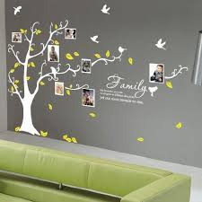 White Tree Wall Decal With Light Blue Leaves Cute Owl Wall Decor Diy Vinyl Mural Wall Stickers F Family Tree Wall Family Tree Wall Sticker Family Tree Painting