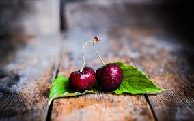 Download Wallpapers Cherry Close Up Drops Dew Berries Fruits