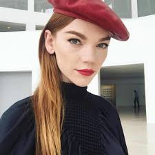 models you on set as makeup artist