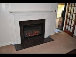 wood burning to electric fireplace