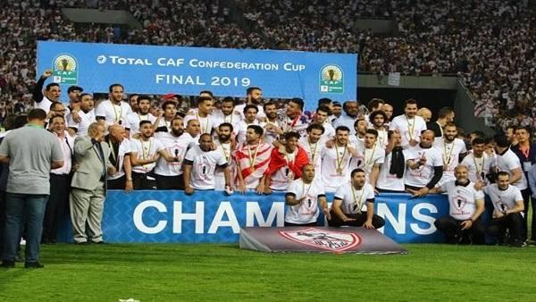 Image result for الزمالك بطل الكونفدرالية الفجر