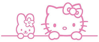 Amazon Com Hello Kitty Bunny Friends Vinyl Decal Sticker Hk 05 Pink 13 Inches X 5 Inches Home Kitchen