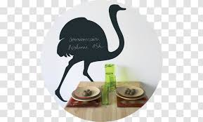 Sticker Wall Decal Silhouette Dishware Common Ostrich Transparent Png