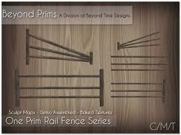 Second Life Marketplace Beyond Prims One Prim Split Rail Fence Series