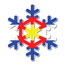 Colorado Sticker Colorado Snowflake Sticker Snowflake Sticker Fearless State