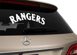 Texas Rangers Inspired Car Decal Rangers Vinyl Decal Window Car Sticker Baseball Inspired Sticker Car Decals Car Sticker Car Decals Car Texas Rangers