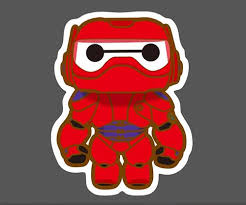 Big Hero 6 Baymax Red Graffiti Vinyl Graffiti Sticker Wholesale Skateboard Laptop Car Phone Glossy Stickers With Cheap Price