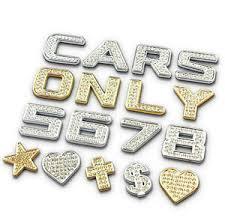 Chrome Gold Alloy Single Crystal Letter Number Car Sticker 3d Auto Decal Emblem Ebay