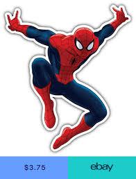 Spider Man Cartoon Jumping Car Bumper Sticker Decal 3 Or 5 Spiderman Cartoon Spiderman Spiderman Stickers