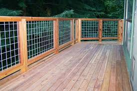 Cedar Deck And Hogwire Rail Wire Deck Railing Deck Designs Backyard Deck Railing Diy