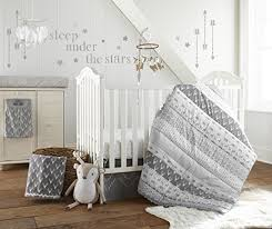 Levtex Baby Everett Grey And White Woodland Animals 5 Piece Crib Bedding Set Quilt 100 Cotton Crib Fitted Sheet Dust Ruffle Diaper Stacker And Large Wall Decals Market4kids Com