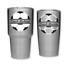 Soccer Decal Soccer Coach Gift Soccer Decals For Yeti Cups Etsy