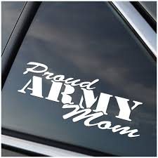Proud Army Mom Vinyl Decal Stick Emall Vinyl Decals