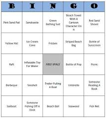 beach bingo free printable beach