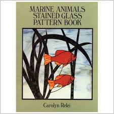 marine animals stained glass pattern
