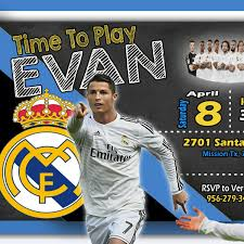 Working On Evan Crisriano Ronaldo Rael Madrid Birthday Invitation