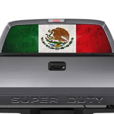 Mexico Flag Truck Window Decal Rear Wind Buy Online In Bahrain At Desertcart