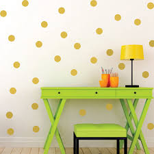 Gold Polka Circle Dots Wall Stickers For Kids Girls Boys Rooms Nursery Tiny Round Wall Decals Home Decor Kids Gifts Art Mural Dots Wall Stickers Polka Dot Wall Stickerssticker For Kids Room Aliexpress