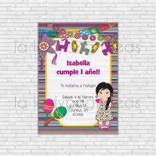 Invitacion De Cumpleanos Fiesta Mexicana Para Imprimir Etsy