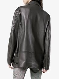 Acne Studios Myrtle Long Leather Jacket | Browns