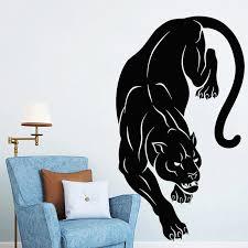 Black Panther Wall Sticker Wild Tribal Animal Vinyl Decal Jungle Predator Mural Living Room Decor Creative Home Decoration O237 Wall Stickers Aliexpress