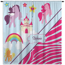 Unicorn Zebra Print Kids Curtains With Rainbow 10 Eloquent Innovations